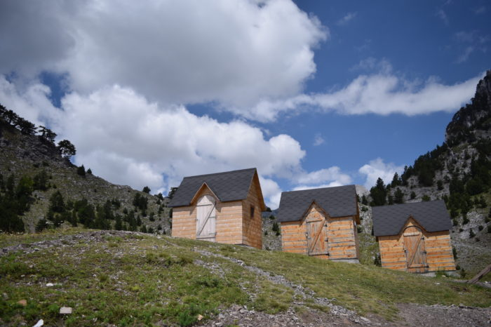 guesthouse cabin of buni i bajraktarit in the Theth National Park