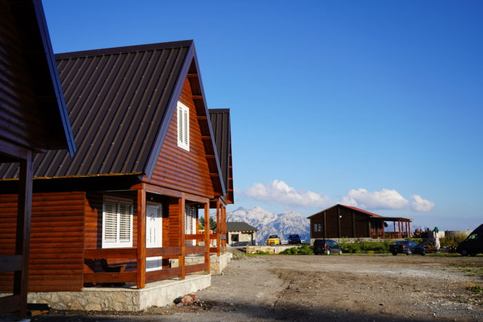 chalets in Theth National Park